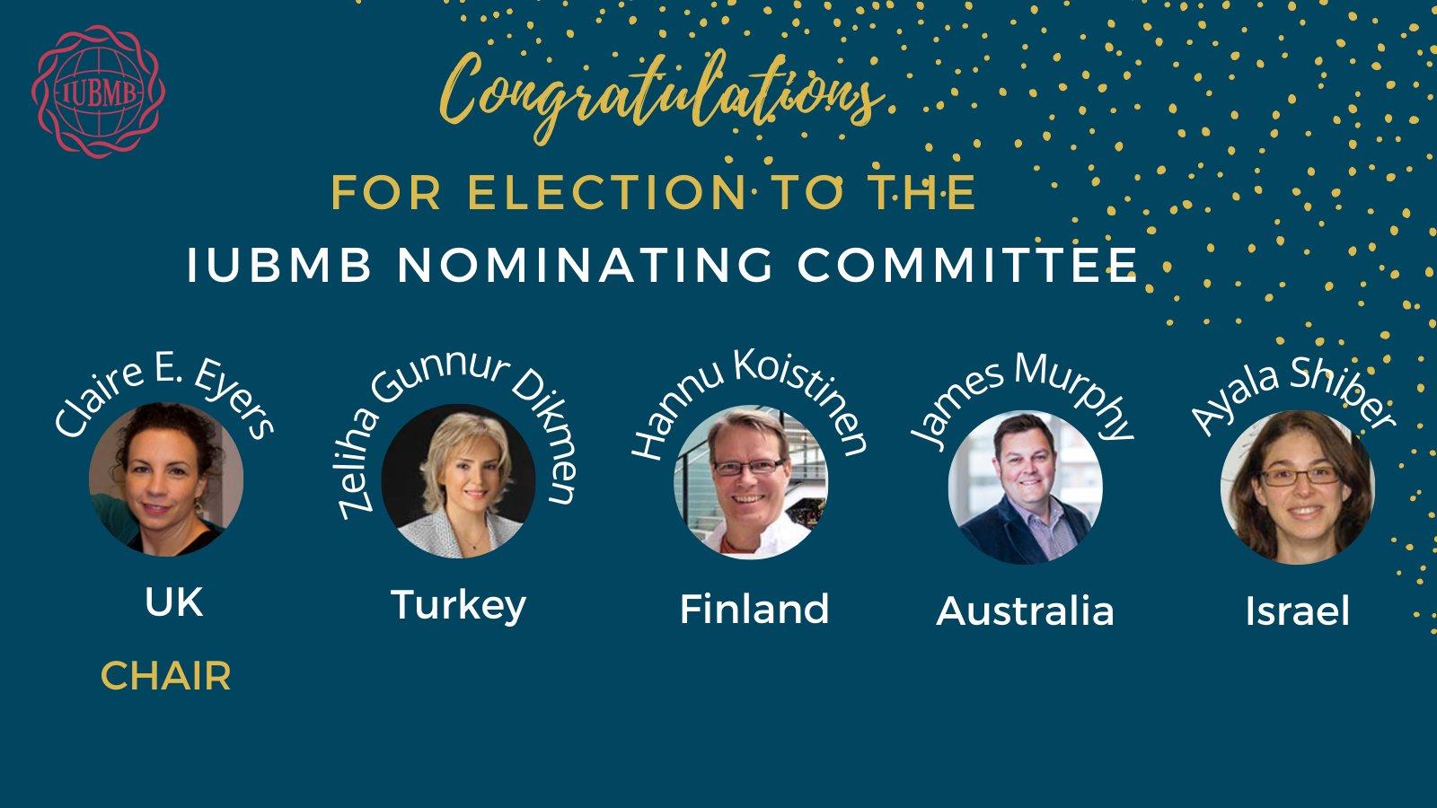 2021-2023 IUBMB Nominating Committee