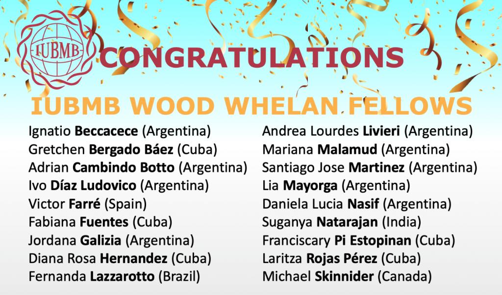IUBMB Wood Whelan Fellows